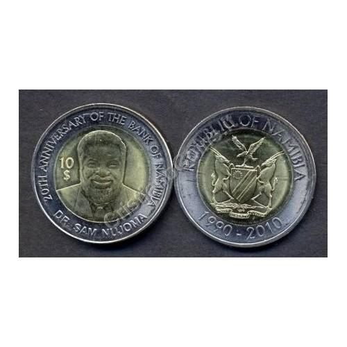 NAMIBIA 10 Dollars 2010...