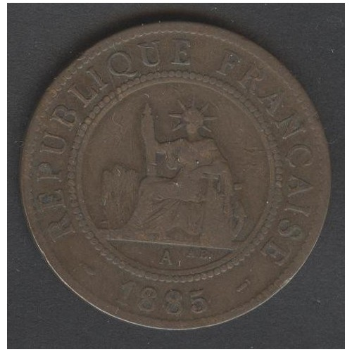 FRENCH INDOCHINA 1 Cent 1885