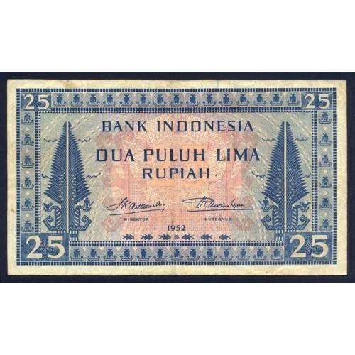 INDONESIA 25 Rupiah 1952
