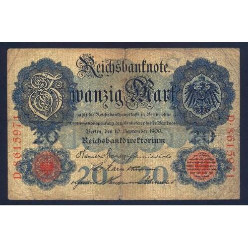 GERMANY 20 Mark 1909