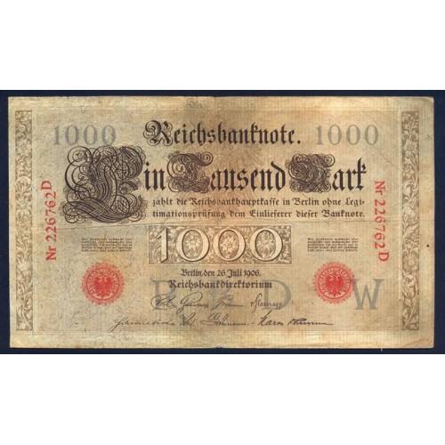 GERMANY 1000 Mark 1906
