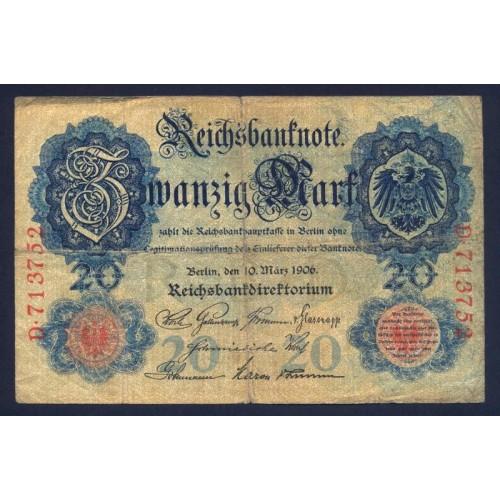 GERMANY 20 Mark 1906