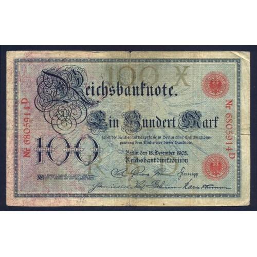 GERMANY 100 Mark 1905