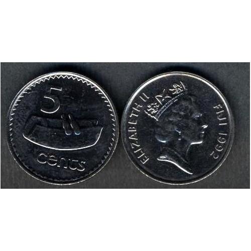 FIJI 5 Cents 1992