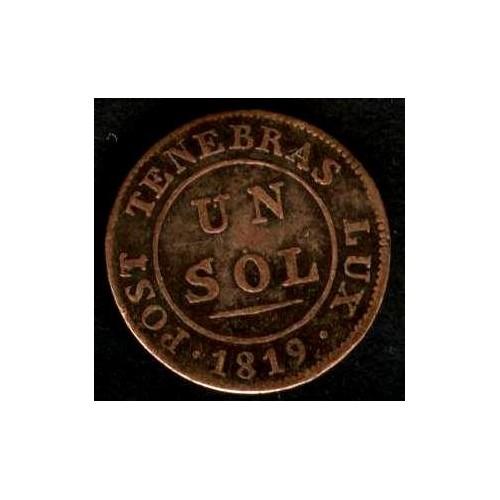 SWISS CANTON Geneva 1 Sol 1819