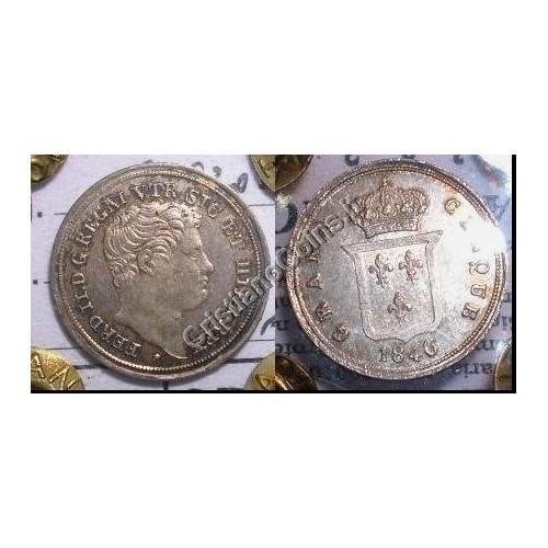 FERDINANDO II 1/2 CARLINO 1846
