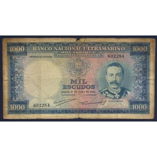 MOZAMBIQUE 1000 Escudos 1953