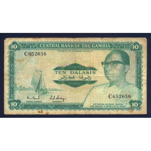 GAMBIA 10 Dalasis 1972/86