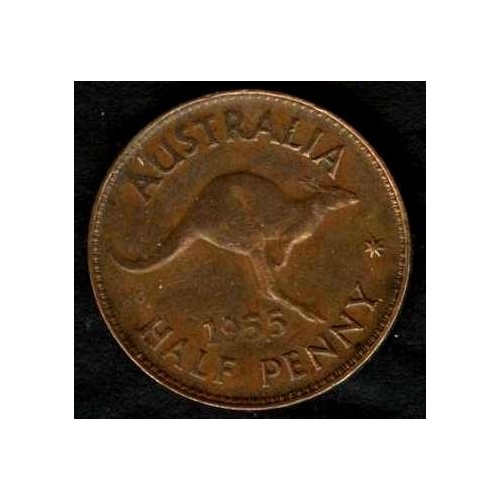 AUSTRALIA 1/2 Penny 1955