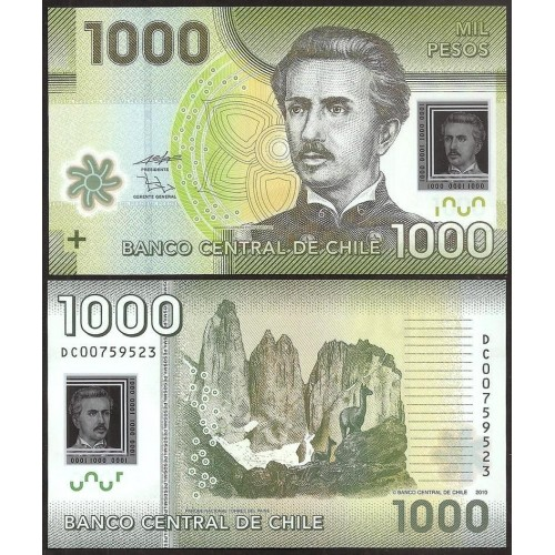 CHILE 1000 Pesos 2010 Polymer