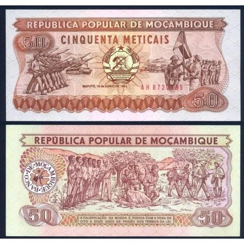 MOZAMBIQUE 50 Meticais 1983