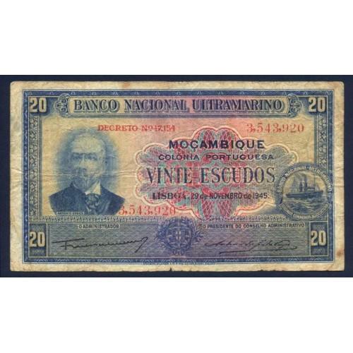 MOZAMBIQUE 20 Escudos 1945