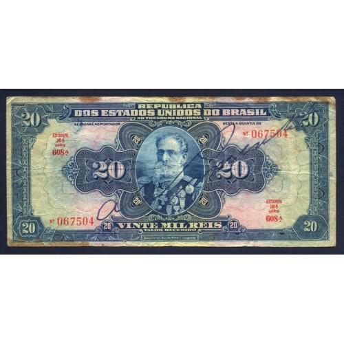 BRAZIL 20 Mil Reis 1931