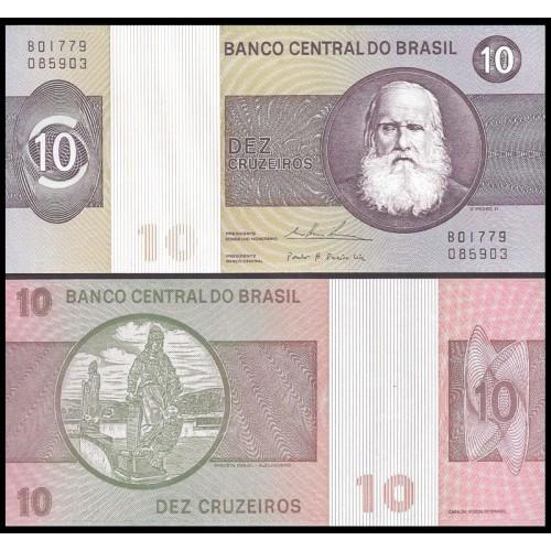 BRAZIL 10 Cruzeiros 1980