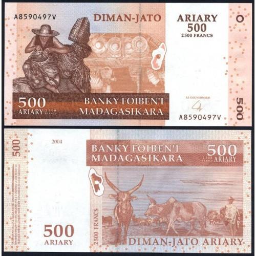 MADAGASCAR 500 Ariary 2014...