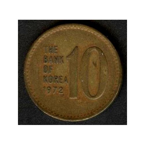 SOUTH KOREA 10 Won 1972