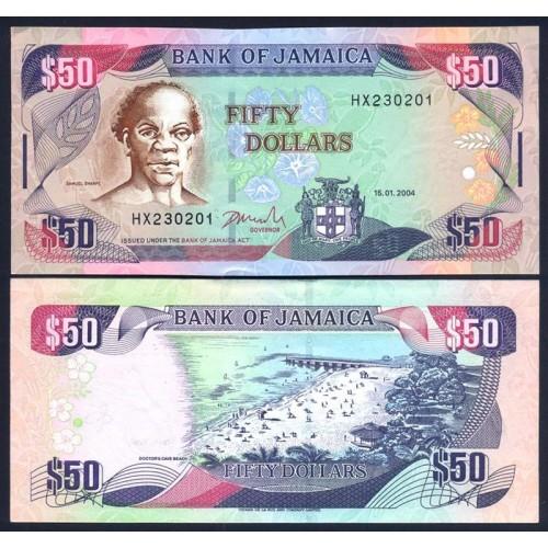 JAMAICA 50 Dollars 2004