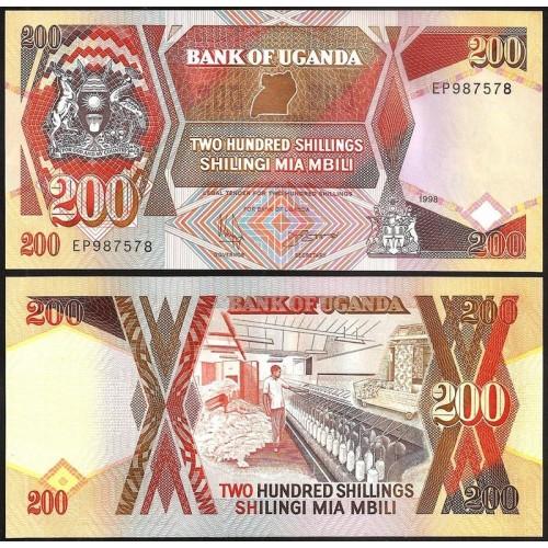 UGANDA 200 Shillings 1998