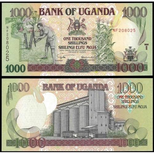UGANDA 1000 Shillings 2001