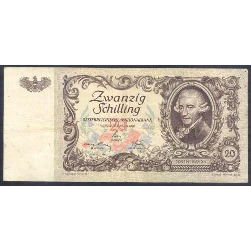 AUSTRIA 20 Schilling 1950