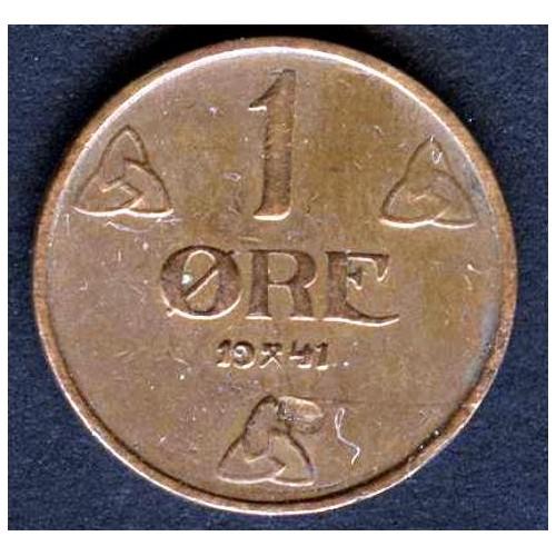NORWAY 1 Ore 1941 br