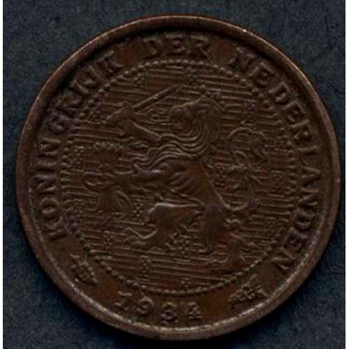 NETHERLANDS 1/2 Cent 1934