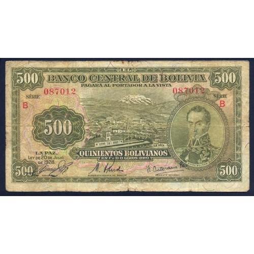 BOLIVIA 500 Bolivianos 1928