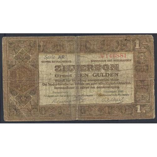 NETHERLANDS 1 Gulden 1920