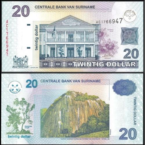 SURINAME 20 Dollars 2004