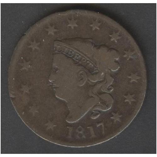 USA 1 Cent 1817 Coronet