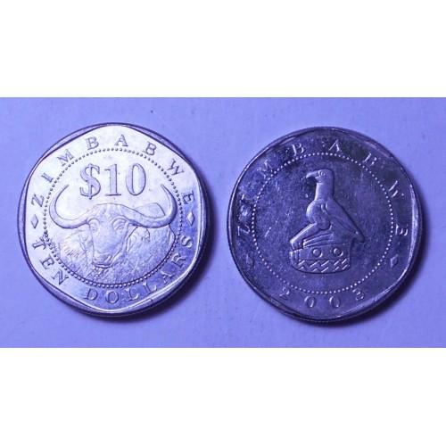 ZIMBABWE 10 Dollars 2003