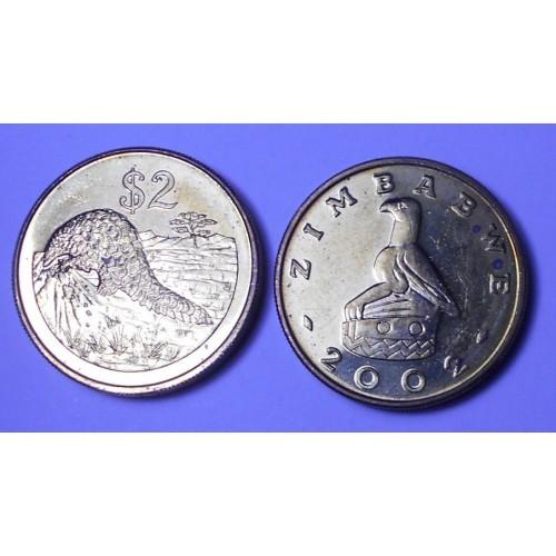 ZIMBABWE 2 Dollars 2002