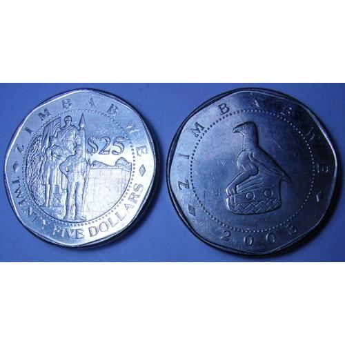 ZIMBABWE 25 Dollars 2003