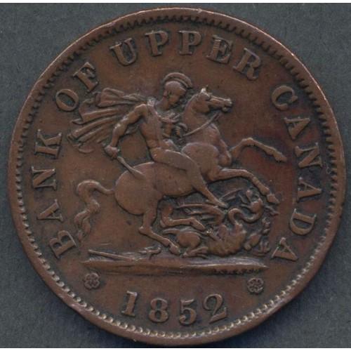 CANADA 1 Penny 1852