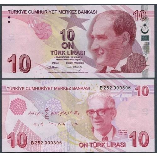 TURKEY 10 Lira 2009 (2012)