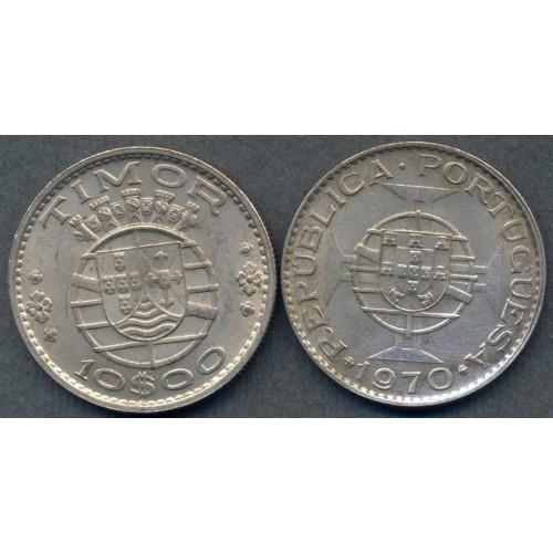 TIMOR 10 Escudos 1970