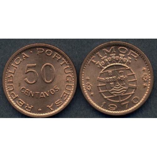 TIMOR 50 Centavos 1970