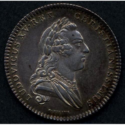FRANCE Jeton 1766 Louis XV AG