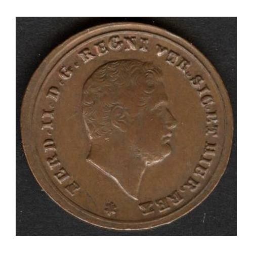 FERDINANDO II 1 TORNESE 1858