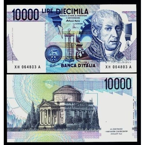 10.000 Lire Volta Serie...