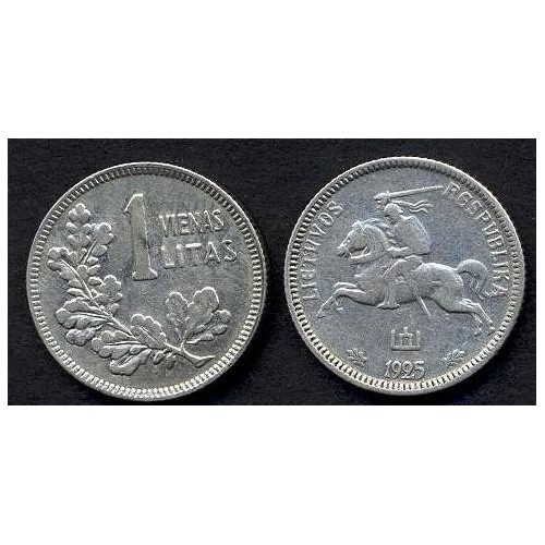 LITHUANIA 1 Litas 1925 AG