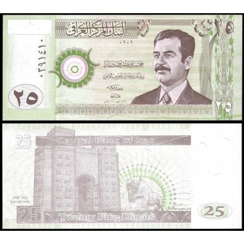 IRAQ 25 Dinars 2001