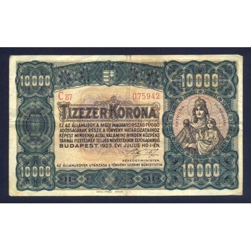 HUNGARY 10.000 Korona 1923