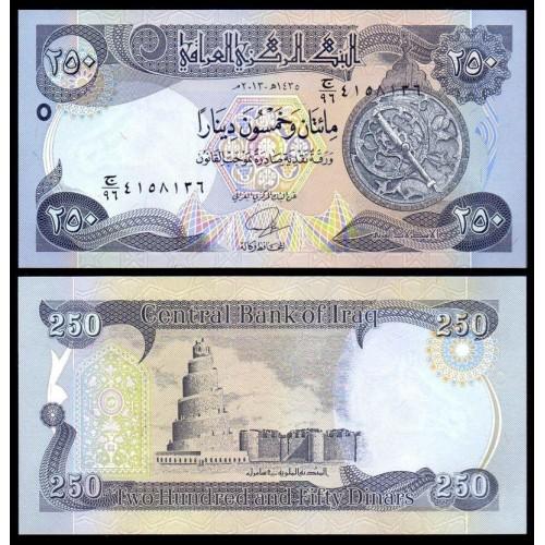 IRAQ 250 Dinars 2013
