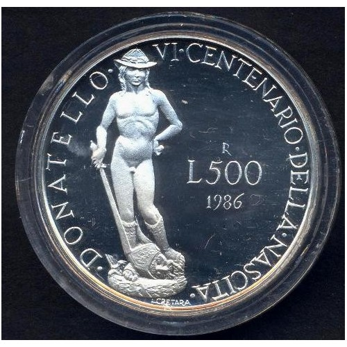 500 Lire 1986 AG DONATELLO...