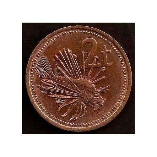 PAPUA NEW GUINEA 2 Toea 1990