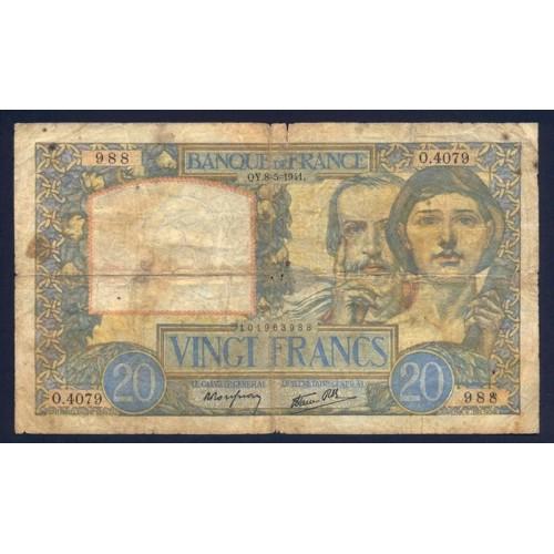 FRANCE 20 Francs 08.05.1941