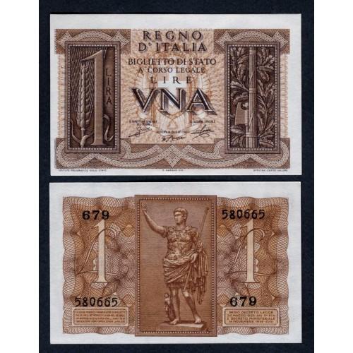 ITALIA 1 Lira 1939...