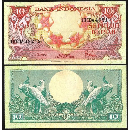INDONESIA 10 Rupiah 1959