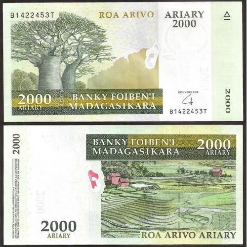 MADAGASCAR 2000 Ariary 2014...